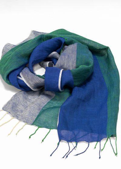 handgewebtes Tuch aus Leinen und Baumwolle