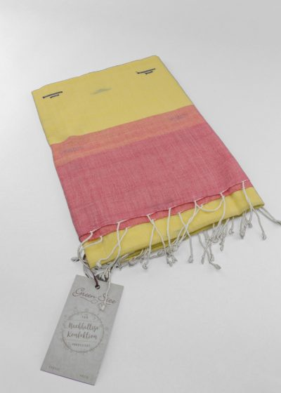 handgewebtes green size tuch aus indien