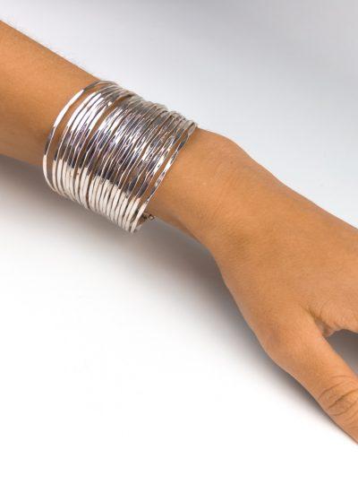 Silberfarbene Armreifen - Fairtrade aus Indien