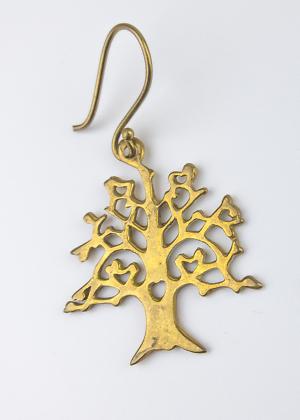 Ohrring Baum mit kleinen Herzdetails
