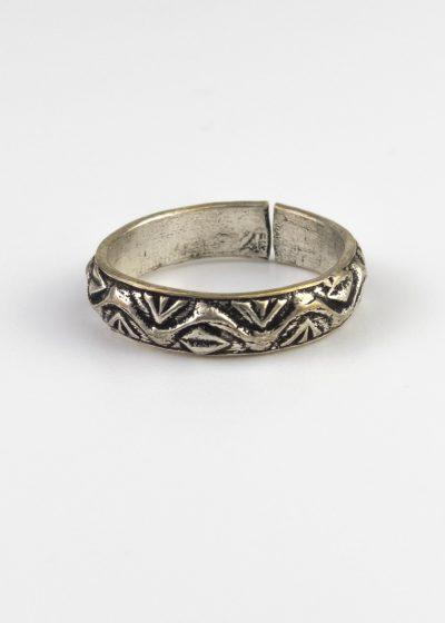 Ring Indien verstellbar Muster Silberfarben