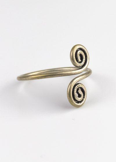 Ring Indien Handmade gedreht kringel