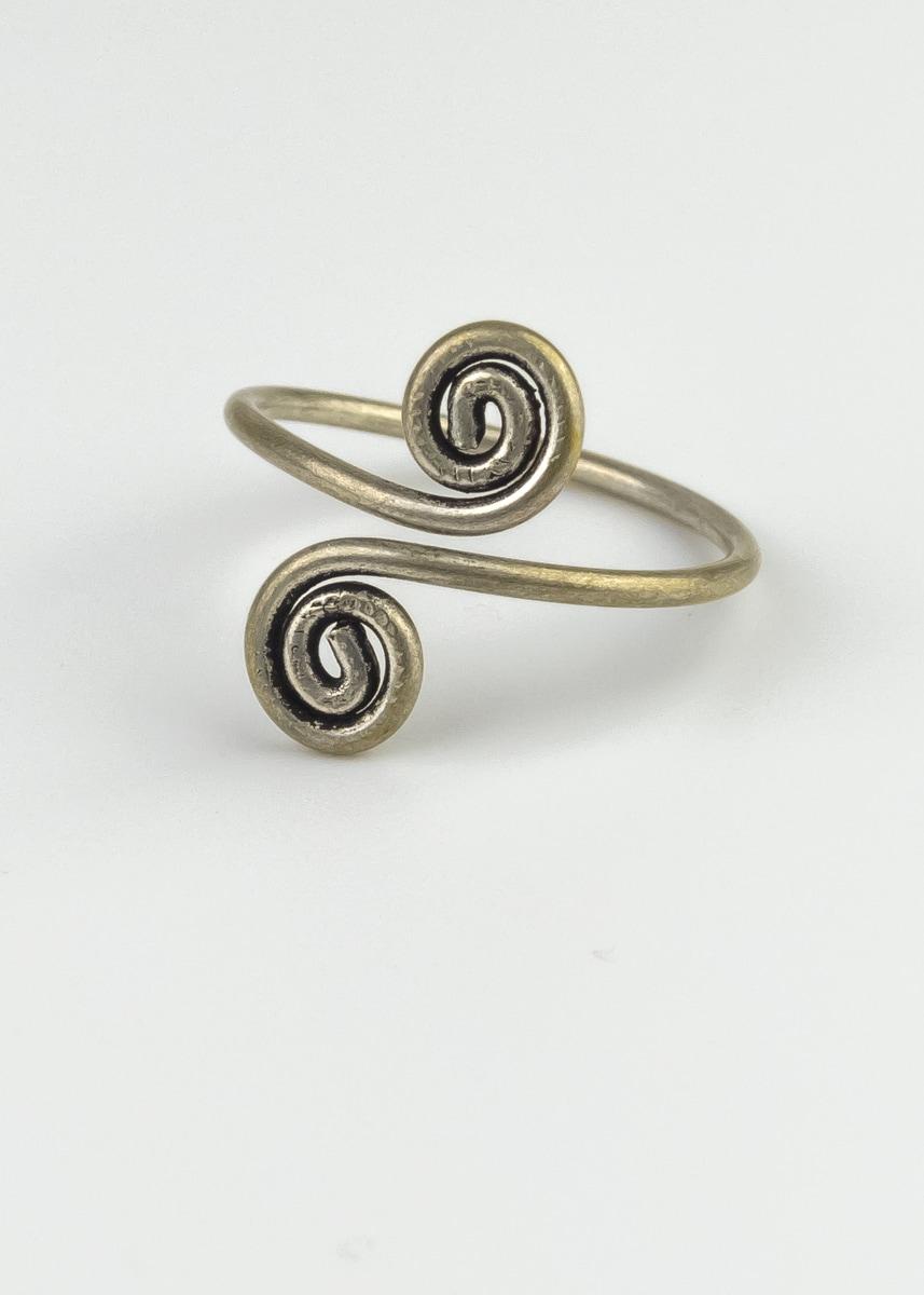 Ring verstellbar Kringel Green Size Indien
