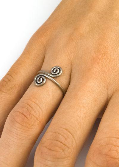 Ring gedreht Kringel indien Green Size