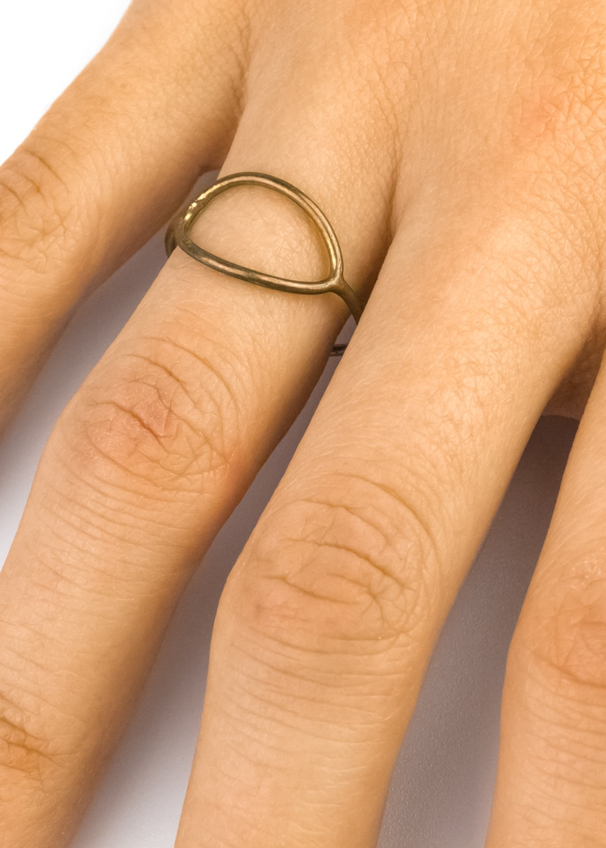 Ring Draht messing Indien Fairtrade