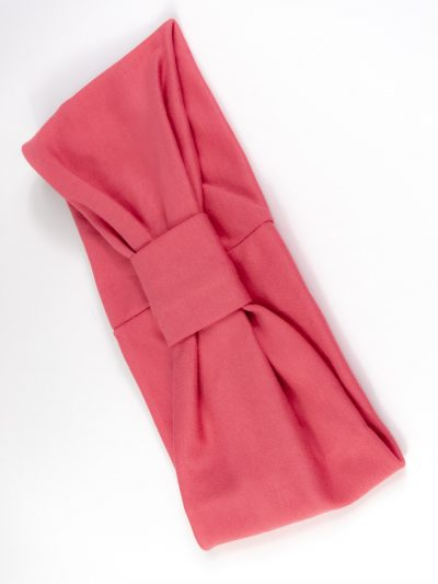 Stirnband Ida Schleife pink biobaumwolle
