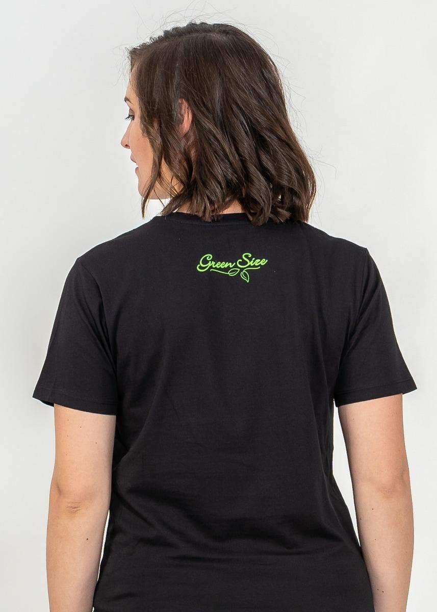 Schwarzes T-Shirt Bio Baumwolle von Green Size Grundgesetz
