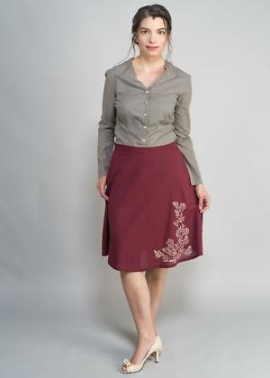 Fairtrade Top und Sommerrock für Damen von green size