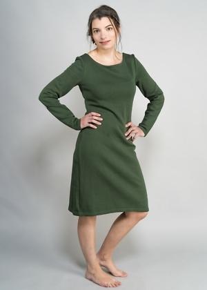 Öko Winterkleid aus indien grün von green size