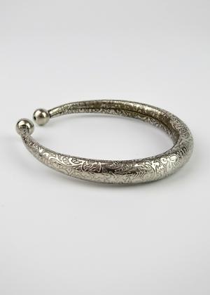Fairtrade Armband Indien Bangel Silber