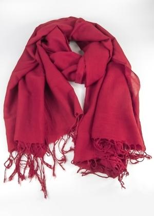 Faire Tücher Uni Rot aus Indien
