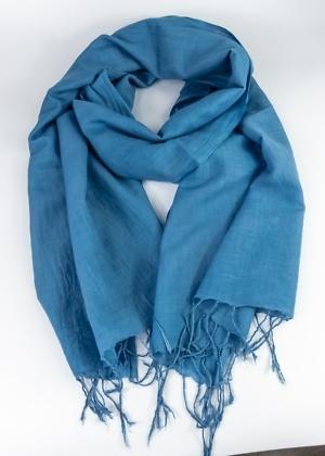 Faire Tücher Uni Blau aus Indien von Green Size