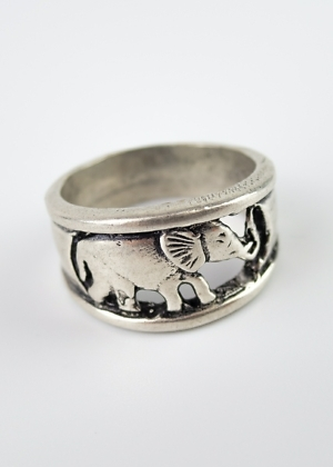 Ring aus Indien Elefant Fairtrade