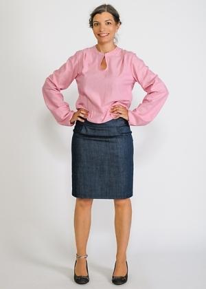 lockere Bluse aus Biobaumwolle mit weiten Ärmeln von Green Size Roxane Porsack