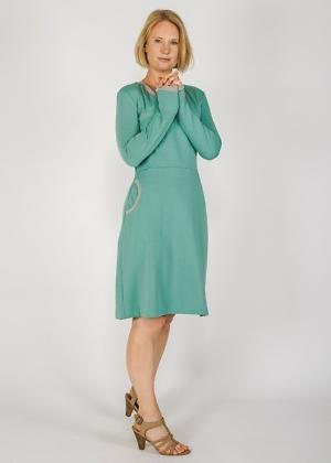 schönes Herbstkleid von Green Size Mint Biosweatstoff
