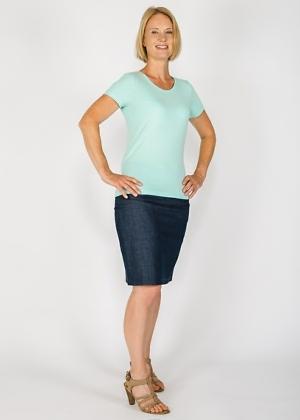Bio-T-Shirt blau nachhaltiges Top fair Wear Green Size